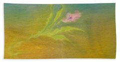 Beach Towel featuring the painting Desert Flower by Mike Breau