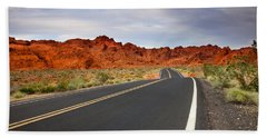 Desert Highway Beach Towel