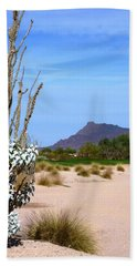 Beach Towel featuring the photograph Desert Mountain by Mike Ste Marie