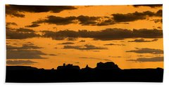 Desert Sky Panorama Beach Towel
