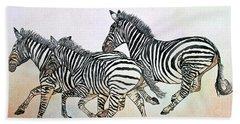 Desert Zebras Beach Sheet