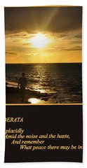 Desiderata Beach Sheet