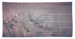 Desiderata - Dandelion Tears Beach Sheet