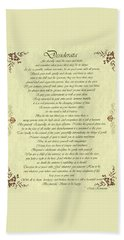 Desiderata Gold Bond Scrolled Beach Sheet