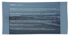 Desiderata  Beach Sheet by Tikvah's Hope