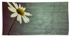 Desiderata With Daisy Beach Sheet