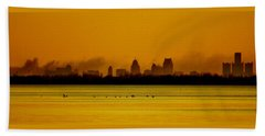 Detroit At Dawn Beach Towel