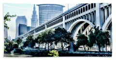 Detroit-superior Bridge - Cleveland Ohio - 1 Beach Towel