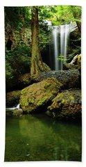 Devil Creek Falls  Beach Sheet by Jeff Swan