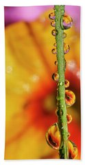 Dew Droplet Fractals Beach Towel