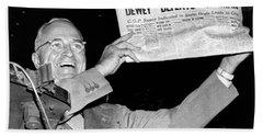 Dewey Defeats Truman Newspaper Beach Towel