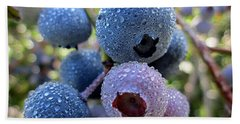 Dewy Blueberries Beach Towel by MTBobbins Photography