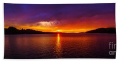 Dexter Lake Oregon Sunset 2 Beach Sheet