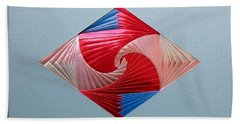 Beach Towel featuring the mixed media Diamond Design by Ron Davidson