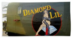 Diamond Lil B-24 Bomber Beach Sheet