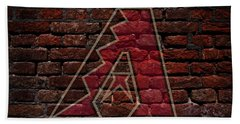 Diamondbacks Baseball Graffiti On Brick  Beach Towel by Movie Poster Prints