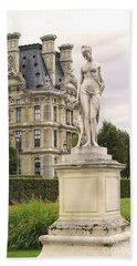 Beach Towel featuring the photograph Diana Huntress Tuileries Garden by Victoria Harrington