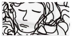 Digital Doodle Beach Towel