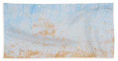 Dilapidated Beige And Blue Wall Texture Beach Towel