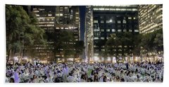Diner En Blanc New York 2013 Beach Towel
