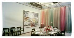 Dining Room In Mr. And Mrs. Williams A.m Beach Towel