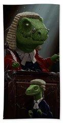 Dinosaur Judge In Uk Court Of Law Beach Towel