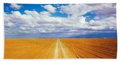 Dirt Road Amboseli Kenya Beach Towel
