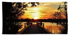 Disappearing Sun  Beach Towel by Cynthia Guinn