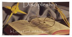 Discipleship Beach Towel by Sharon Elliott
