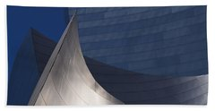 Disney Hall Abstract Beach Towel by Rona Black