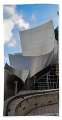 Disney Hall Beach Towel by Gandz Photography