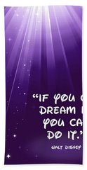 Disney's Dream It Beach Towel