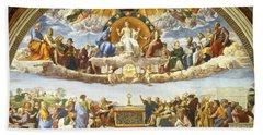 Disputation Of Holy Sacrament. Beach Sheet