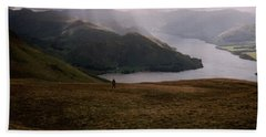Distant Hills Cumbria Beach Towel by John Williams