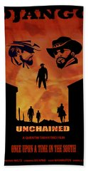 Django Unchained Alternative Poster Beach Towel