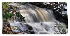 Beach Towel featuring the photograph Doane's Lower Falls In Central Mass. by Mitchell R Grosky