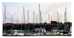 Beach Towel featuring the photograph Docked Boats Norfolk Va by Susan Savad