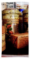Beach Towel featuring the photograph Doctor - Liver Pills In General Store by Susan Savad