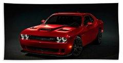 Dodge Challenger S R T Hellcat Beach Towel