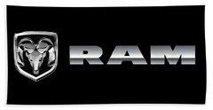 Dodge Ram Logo Beach Towel