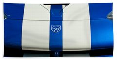 Dodge Viper Hood Emblem Beach Sheet by Jill Reger
