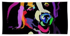 Dog Iggy Color Me Bright Beach Towel