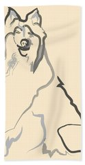 Dog - Lassie Beach Towel by Go Van Kampen
