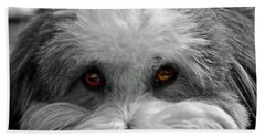 Coton Eyes Beach Towel by Keith Armstrong