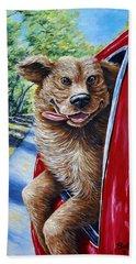 Dog...gone Happy Beach Towel by Gail Butler