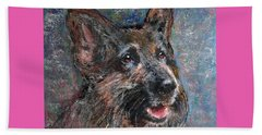 Beach Towel featuring the painting Doggy Dreams by Richard James Digance