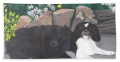 Dogs Daisy And Buttons Beach Towel