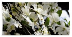 Dogwoods In The Spring Beach Sheet by Kim Pate