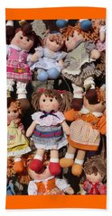 Beach Sheet featuring the photograph Dolls by Marcia Socolik