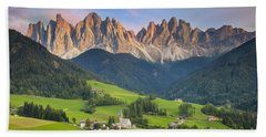 Dolomites From Val Di Funes Beach Sheet
